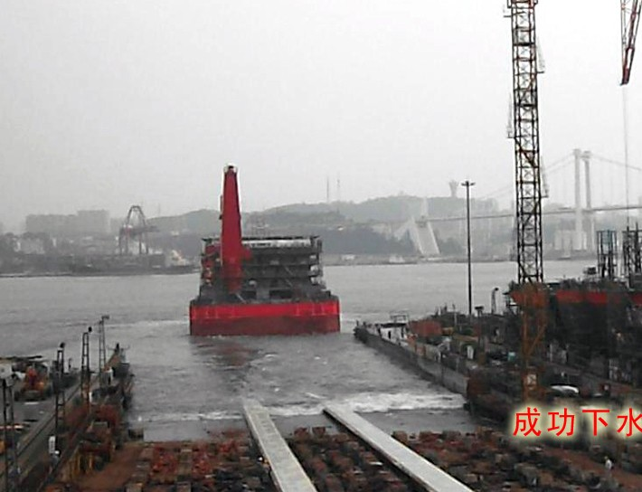 300m accommodation barge lauched by Xiamen shipbuilding